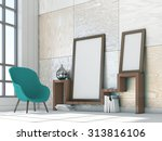 mock up poster frames in... | Shutterstock . vector #313816106