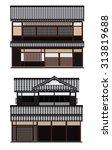 japanese traditional houses ... | Shutterstock .eps vector #313819688