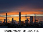 silhouette of petrochemical... | Shutterstock . vector #313823516