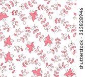 abstract vector flower seamless ... | Shutterstock .eps vector #313828946