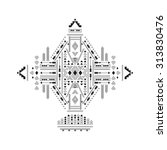 ethnic geometrical pattern ... | Shutterstock .eps vector #313830476