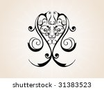 abstract creative tattoo | Shutterstock .eps vector #31383523