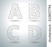 mesh stylish alphabet letters a ... | Shutterstock .eps vector #313837796