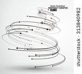vector tornado abstract... | Shutterstock .eps vector #313840982