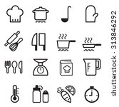 cooking icons set | Shutterstock .eps vector #313846292