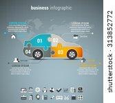 vector illustration of business ... | Shutterstock .eps vector #313852772