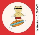 animal cat summer cartoon theme ...   Shutterstock .eps vector #313865462