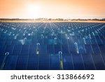solar park producing green... | Shutterstock . vector #313866692