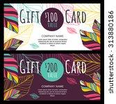 vector gift voucher  card...   Shutterstock .eps vector #313880186