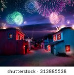 scale model of a mexican town... | Shutterstock . vector #313885538
