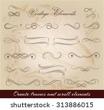 vintage elements and page... | Shutterstock .eps vector #313886015