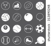 sport icons set illustration | Shutterstock .eps vector #313890248