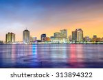 downtown new orleans  louisiana ... | Shutterstock . vector #313894322