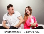 young couple not talking to... | Shutterstock . vector #313901732