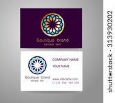 boutique brand   template logo. ... | Shutterstock .eps vector #313930202
