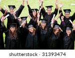 group of graduation students... | Shutterstock . vector #31393474