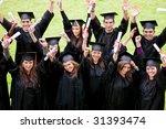 group of graduation students...   Shutterstock . vector #31393474