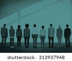 diverse diversity ethnic... | Shutterstock . vector #313937948