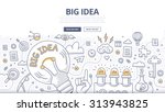 doodle design style concept of... | Shutterstock .eps vector #313943825