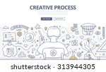 doodle design style concept of... | Shutterstock .eps vector #313944305