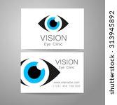 vision   eye clinic logo.... | Shutterstock .eps vector #313945892