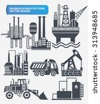 industry engineer and... | Shutterstock .eps vector #313948685