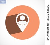 location people icon. vector... | Shutterstock .eps vector #313953602