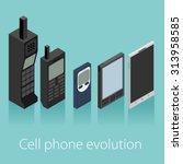 cell phone evolution vector... | Shutterstock .eps vector #313958585