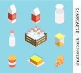 isometric vector milk icon | Shutterstock .eps vector #313958972