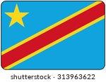 a flat design flag illustration ... | Shutterstock . vector #313963622