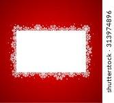 red christmas background | Shutterstock .eps vector #313974896