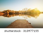 lake on an autumn day | Shutterstock . vector #313977155