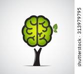 brain tree. vector illustration | Shutterstock .eps vector #313979795