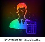 businessman design rainbow... | Shutterstock .eps vector #313986362
