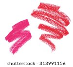 pink and red lipstick swatches... | Shutterstock . vector #313991156