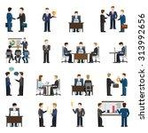 flat style modern business... | Shutterstock .eps vector #313992656