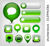 speech bubble green design... | Shutterstock .eps vector #313996586