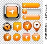 navigation orange design... | Shutterstock .eps vector #313996616