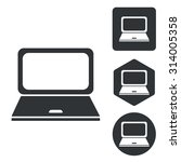 laptop icon set  monochrome ...