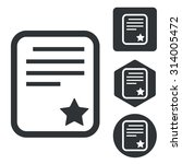 best document icon set ...