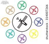 satellite sign icon  vector... | Shutterstock .eps vector #314007266