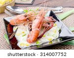 steam shrimps apple sauce and... | Shutterstock . vector #314007752