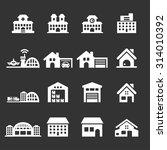 building icon set 7  vector... | Shutterstock .eps vector #314010392