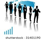 illustration of business people | Shutterstock .eps vector #31401190