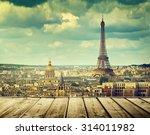 background with wooden deck... | Shutterstock . vector #314011982