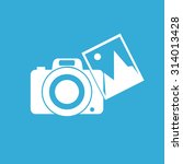 camera with photo icon | Shutterstock .eps vector #314013428