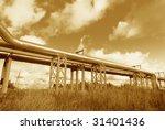 industrial pipelines on pipe...   Shutterstock . vector #31401436