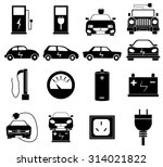 eco electric car icons set | Shutterstock .eps vector #314021822