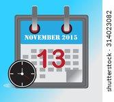 flat design concept calendar... | Shutterstock .eps vector #314023082