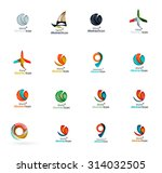 set of abstract travel logo... | Shutterstock . vector #314032505